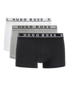 Hugo Boss Trunk Boxershorts 3Pack Grijs Wit Zwart