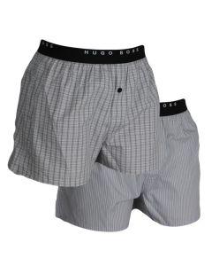 Hugo Boss Woven Boxershorts 2Pack Open Grey