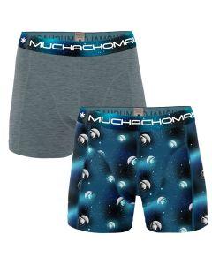 MuchachoMalo 2Pack MAN ON THE MOON Jongens Boxershorts