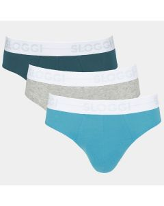 Sloggi Men GO Mini Slip Blue Grey Navy 3Pack