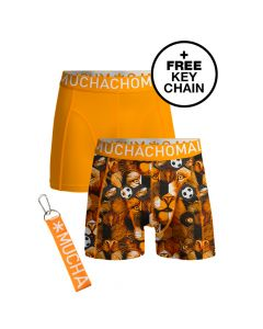 MuchachoMalo 2Pack EK Nederland Jongens Boxershorts incl keychain