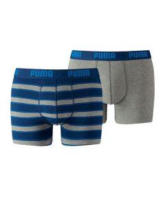 Puma heren 2pack Rugby Stripe Blue/Grey