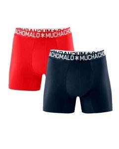 Muchachomalo heren 2pack Light Cotton rood/navy