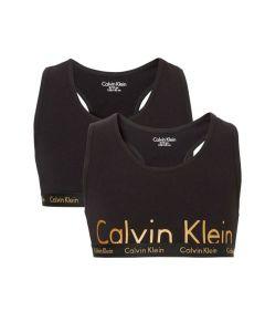 Calvin Klein meisjes 2pack bralette zwart & goud