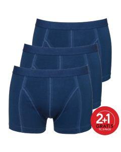 Ten Cate Mannen Basic Shorty 3Pack Navy 2+1 gratis