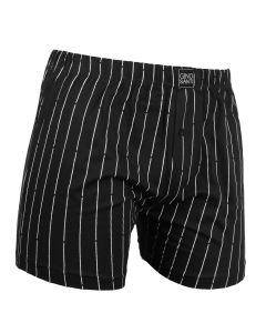 Gino Santi Klassieke boxer Zwart Pin Stripe